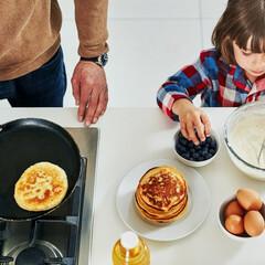 スターフィルター/時短/掃除/換気扇掃除/キッチン/汚れ お子さまと一緒にパンケーキ作り♪  お料…