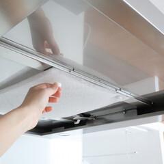スターフィルター/換気扇フィルター/キッチン/掃除/時短/取り付け フィルターレスタイプの換気扇でも、強力マ…