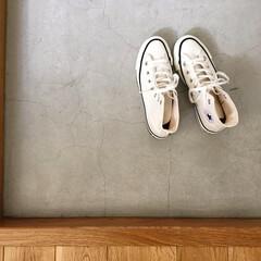 白/スニーカー/コンバース/ファッション メイドインジャパン初おろし。なんだか履き…
