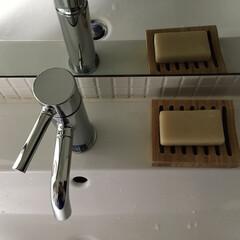 石鹸/ソープディッシュ/洗面所/雑貨/インテリア/住まい 石鹸洗顔に切り替えて早半年。石鹸てコスパ…