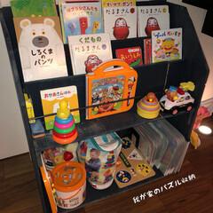 マイホーム記録/家づくり/子供のいる暮らし/おもちゃ収納/整理整頓/絵本棚/... 息子がパズル大好きでずっーとパズルしてま…(1枚目)