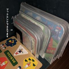 マイホーム記録/家づくり/子供のいる暮らし/おもちゃ収納/整理整頓/絵本棚/... 息子がパズル大好きでずっーとパズルしてま…(6枚目)