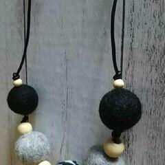 シック/ネックレス/羊毛フェルト/ハンドメイド/ファッション/わたしのお気に入り ネックレス  羊毛フェルトで作ったネック…
