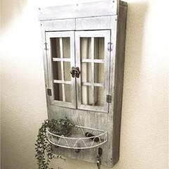 スイッチカバー/アンティーク風/窓風/ナチュラルシャビー/インターフォンカバー/DIY/... ナチュラルシャビーアンティーク窓風フック…
