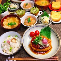 晩御飯/mai飯/ヘルシーごはん/和食/節約/節約料理/... 2019.4.11(木) . 🌸昨夜のご…