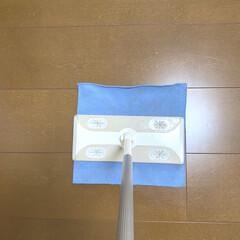 床掃除 フローリング用おそうじクロス 3枚入り(掃除用ブラシ)を使ったクチコミ「そうじの神様 フローリング用おそうじクロ…」