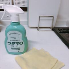 掃除シート キッチン用おそうじクロス 3枚入り そうじの神様(掃除用ブラシ)を使ったクチコミ「キッチンの掃除にもウタマロクリーナー! …」(1枚目)