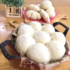 パン焼き/パン/手作りパン/節約  ・ストウブで白パン ・クリームパン ・…