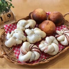 お家パン/焼き立てパン/手作りパン/フォロー大歓迎/至福のひととき/LIMIAスイーツ愛好会/...  あんぱん チョコパン スイートブール(5枚目)