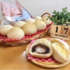 パン焼き/ご飯/パン/住まい/暮らし  手作りパン。 白玉あんぱん。 クリーム…