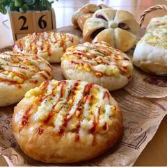 焼き立てパン/手作りパン/パン/フォロー大歓迎/至福のひととき/おやつタイム/...  焼き立てパン  たまごパン 野菜ちぎり…
