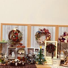 ツリー/リース/クリスマス/キャンドゥ/ダイソー/セリア/... ほんの一部分ですが、私の作ったごちゃごち…