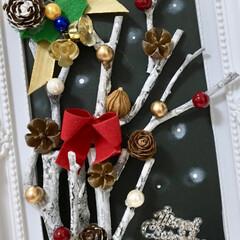 クリスマス/癒し/額縁アート/キャンドゥ/ダイソー/セリア/... おはようございます😃 額縁アート? 白樺…