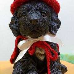 手編み/インテリア/編み物/朱色/ダイソー/100均/... 今年のハロウィンは、赤いとんがり帽とマン…