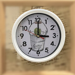 時計/令和元年フォト投稿キャンペーン/令和の一枚/雑貨/LIMIA手作りし隊/ハンドメイド/... 100均の時計をバラして、文字盤にサボテ…