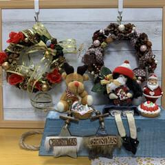 リース/サンタ/クリスマス/机/リビング/キャンドゥ/... ハロウィンの時作った女の子…変身してトナ…