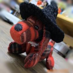 ハンドメイド/ハロウィン/魔女の帽子/編み物/雑貨/ダイソー/... 魔女の帽子編んであげました💕 ちょっと加…