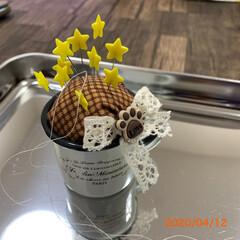 針さし/キャンドゥ/ダイソー/セリア/100均/雑貨/... 針さし…小さなセリアのカップ?で作りまし…