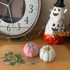 かぼちゃ/ハロウィン/雑貨/ダイソー/セリア/100均deハロウィン 100均のかぼちゃ🎃のオブジェ 大好きな…(2枚目)