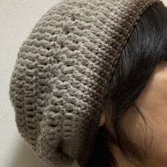 帽子/毛糸/手編み/キャンドゥ/ダイソー/セリア/... 帽子、編んだだよ〜😁✌️  長編み、中編…