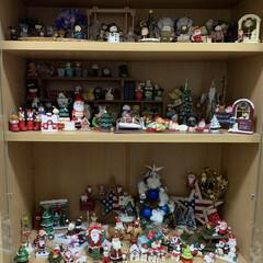 ツリー/100均/クリスマス/リビング/キャンドゥ/ダイソー/... 私のおもちゃ棚…クリスマス雑貨詰め込みま…