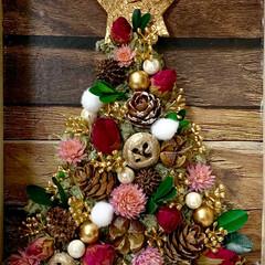 クリスマス2019/キャンドゥ/ダイソー/セリア/100均/DIY/... ボックス入りクリスマスツリー 千日紅の最…