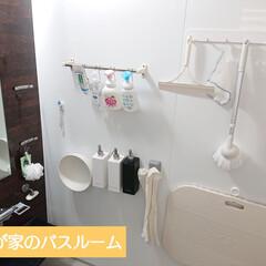 和光堂 ミルふわ 全身ベビーソープ泡タイプ 450mL(ボディソープ)を使ったクチコミ「 【バスルーム収納✼̥୭*ˈ】   我が…」