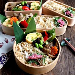 鯛めし/お弁当/LIMIAごはんクラブ/おうちごはんクラブ 鯛めし作ってお弁当に詰めました。 鯛の香…