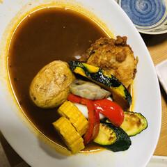 おうちごはん/カレーリメイク/カレーアレンジ/カレー大好き/ここにもカレー/うちのカレー お家ご飯 野菜たっぷりスープカレー作りま…