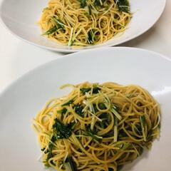 食事情 納豆と水菜のパスタ作りました😊