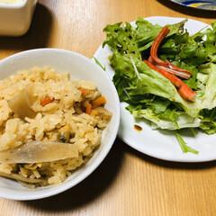 食事情/節約 お家ご飯🍚 釜で炊きあげた あさりの炊き…