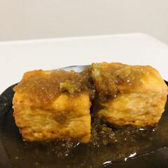 節約/食事情 豆腐ステーキ作りました タレも手作りです😄