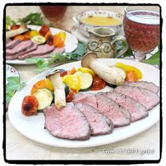 リミとも部/ビストロアンバサダー/ビストロ/かぼちゃのスープ/湯煎調理/アメリカンビーフ/... コストコでGETしたアメリカビーフで作る…