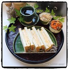 高級食パン/覚王山い志かわ風/厚焼き卵のサンドイッチ/パナソニックビストロ/キッチンポケット/キッチンコラムにrecipe掲載中/... 厚焼きたまごのサンドイッチ🥪  おは…