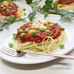 食器好きな人と繋がりたい/アンティーク食器/トマトパスタ/トマトスパゲティ/トマトソース/料理好きな人と繋がりたい/... トマトソース🍅スパゲティ🍝  おはよ…(1枚目)