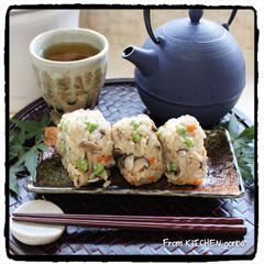 環境問題/onigiriAction/フードロス/炊き込みごはん/レンジ調理/レンチン/... リビングジャーで作る♬炊き込みごはん🍚…