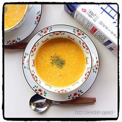 ありがとうございます/snapdish/甘酒入り/マルコメ糀甘酒/かぼちゃの冷製スープ/かぼちゃスープ/... 甘酒で作った‼︎かぼちゃ🎃の冷製スープ🍴…
