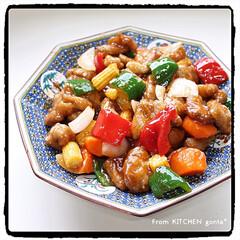 週末ごはん/大皿料理/gonta*/酢鶏でなく酢豚/酢豚/中華料理/... 酢鶏のはずが、酢豚に…😅deおうち中華🇨…