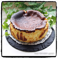 美味/焦げてるけど焦げの味しない/🆕🌄/チーズケーキ/スペインバル風/バスクチーズケーキ/... バスクチーズケーキ🇪🇸  おはようご…