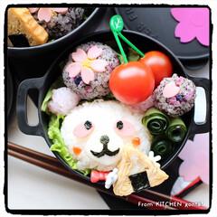 料理好きな人と繋がりたい/手毬ずし/花見弁当/桜弁当/さくらパンダ/みんなのブログ/... さくらパンダ、花見に行く…弁当🌸  …(2枚目)