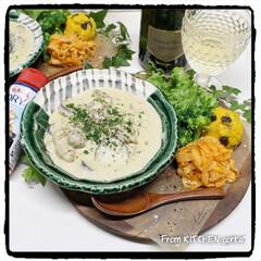 食器好きな人と繋がりたい/和食器好きな人と繋がりたい/和食器のある暮らし/織部焼/料理好きな人と繋がりたい/にんじんマリネ/... シュクメルリtoピーラーで作るにんじんマ…