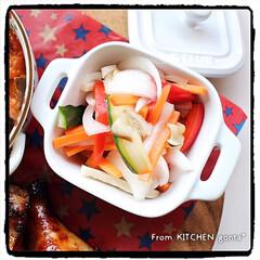 オーブン料理/オーブンフル回転/おうちごはん/野菜のマリネ/ラタトゥイユ/ローストチキン/... ローストチキン🐓withラタトゥイユ🇫🇷…(5枚目)