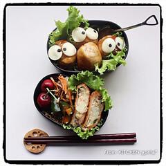 MOCHIZUKI モチヅキ スコップスプーン カトラリー 箸 アウトドア 釣り 旅行用品 アウトドアギア(スプーン)を使ったクチコミ「女の子だって、肉巻きおにぎり🍖入りガッツ…」