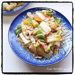 郷土料理/中華料理/おいしいごはん/recipe作成中/言い方が難しい/有田焼/... あんかけカタ焼きそば🇨🇳  おはよう…