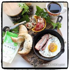 おうちごはん/おうちカフェ/ワンプレートごはん/朝食/はかたのしお第3期アンバサダー/フルールドセル/... フルール•ド•セルで作るクレセントロール…