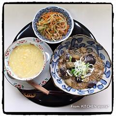 モニター/タイガー×cookpad/タイガー炊飯器/炊飯器クッキング/麻婆茄子/中華コーンスープ/... 中華プレート🇨🇳  こんにちは😃 …