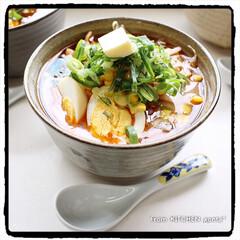 和食器のある暮らし/器好きな人と繋がりたい/料理好きな人と繋がりたい/たち吉/味たまご/味噌ラーメン/... 我が家の味噌ラーメン🍜  おはようご…