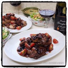 オーブン活用/グリル調理/グリル機能/NE-BS2600/パナソニックビストロ/スパークリングワイン/... 大根と鶏モモ肉のワイン煮込み🍷  こ…