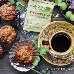 コーヒードリップ ブレンドセット 70袋   タソガレ(コーヒー豆(豆挽き済))を使ったクチコミ「キャラメルナッツタルト🥜とタソガレコーヒ…」(1枚目)