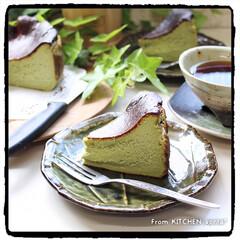 チーズケーキ/お菓子作り好きな人と繋がりたい/お菓子作り/簡単レシピ/美味/バスク風チーズケーキ抹茶version/... ついに作った⁈バスク風チーズケーキ★お抹…